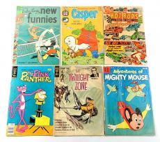 (6) Silver Bronze Comics ^ Casper Twilight Zone Pink Panther Gold Key Hot Rods