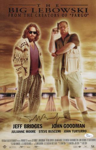 Jeff Bridges Signed The Big Lebowski 11x17 Movie Poster Jsa Coa N37855
