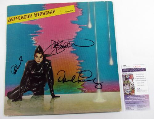Jefferson Starship Signed LP Record Album Modern Times w/ 3 JSA AUTOS