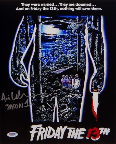 Ari Lehman Jason 1 Signed 11x14 Friday The 13th Movie Poster Photo- PSA/DNA Auth