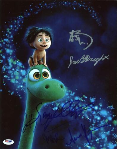 The Good Dinosaur (Anna Paquin, Sam Elliott, +4) Signed 11X14 Photo PSA #AB10795