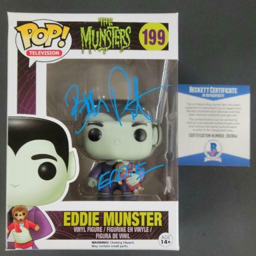 BUTCH PATRICK Signed Eddie Munster Pop! Vinyl Figure The Munsters Beckett COA