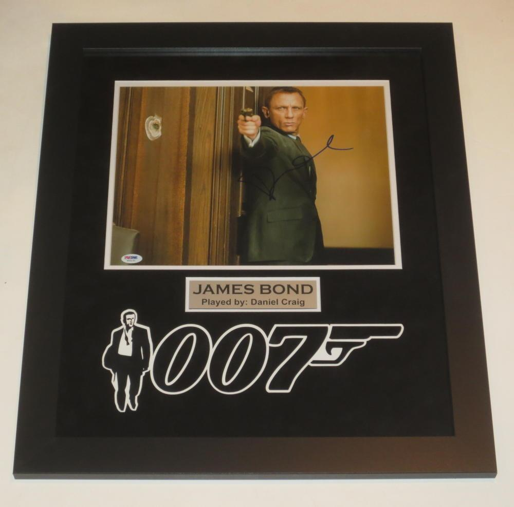 Daniel Craig 007 Signed 11x14 Photo James Bond Professionally Framed  Psa/dna