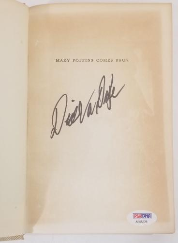 DICK VAN DYKE Signed Vintage 1965 (c) MARY POPPINS Hardcover Book PSA/DNA COA