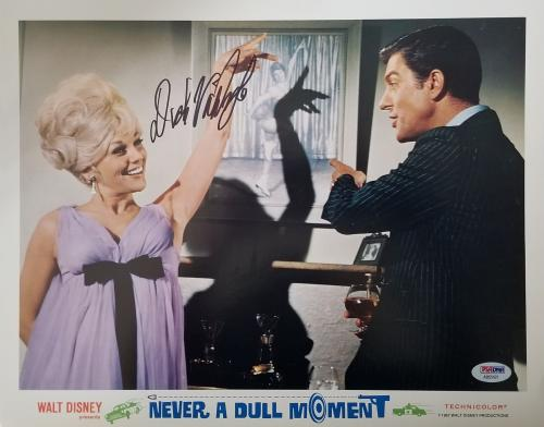 DICK VAN DYKE Signed Walt Disney Never a Dull Moment Lobby Card #5 PSA COA Proof