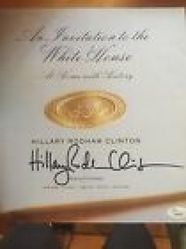 Hillary Rodham Clinton signed autographed Book Invitation to White House JSA
