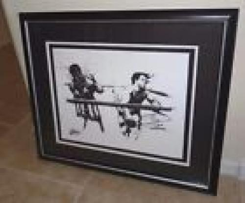 Sylvester Stallone Rocky Signed & Framed Joe Petruccio Artist Proof Print 6/27
