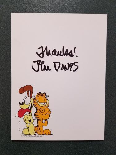 Autographed Jim Davis Photo - 72