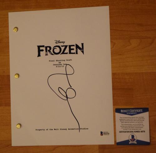 Idina Menzel Signed Autographed Frozen Movie Script Screenplay Beckett BAS COA