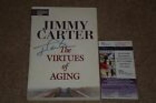 President Jimmy Carter Signed Autographed Book Signed Twice!! Jsa Certified