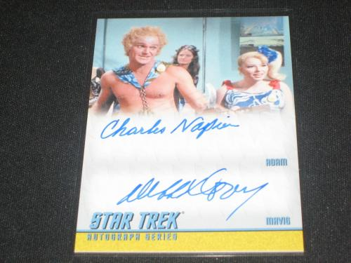 Star Trek Charles Napier & Deborah Downey Dual Signed Autographed Certified Card