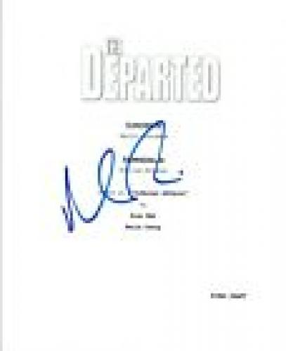 Matt Damon Signed Autographed THE DEPARTED Full Movie Script COA VD
