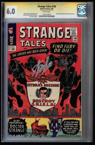 Strange Tales #136 Cgc 6.0 White Pages Ss Stan Lee 2nd App. Nick Fury 1197123014