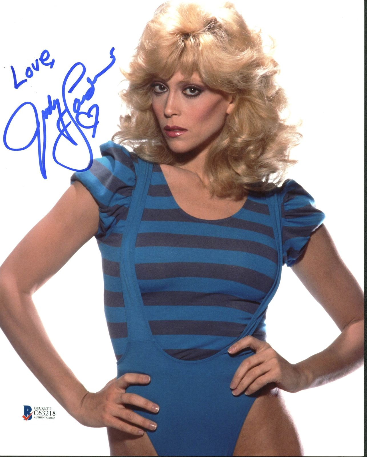 Judy Landers Sexy Signed 8X10 Photo Autographed BAS #C63218