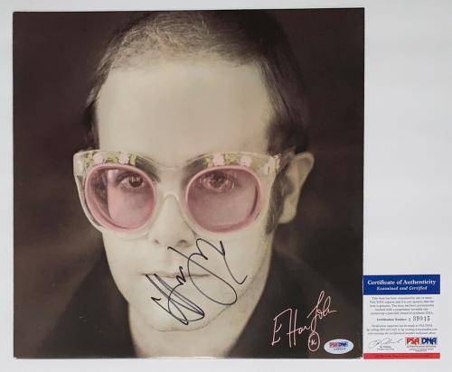 Elton John Signed Caribou Album Insert Psa Coa I39015