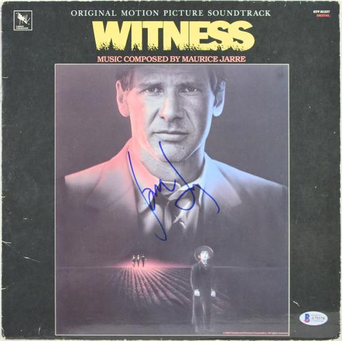 Harrison Ford Signed Witness Soundtrack Album Cover W/ Vinyl BAS #A79378