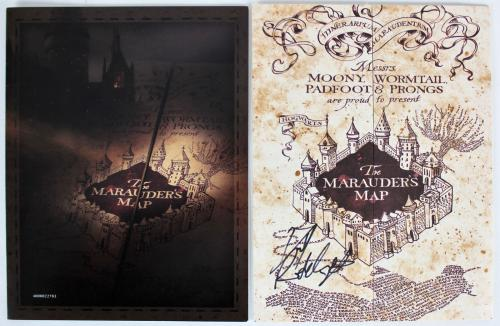 Daniel Radcliffe Signed 9 x 26.5 Harry Potter The Marauder's Map BAS #F84007