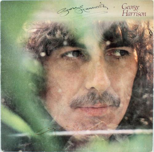 George Harrison Signed x2 Self Titled Album Cover W/ Vinyl BAS #A71977