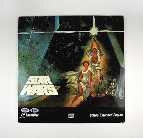 George Lucas Star Wars Autographed Signed Laser Video Disc Certified BAS COA