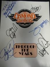 (6) The Osmonds Multi-Signed The Osmond Brothers Program Auto PSA/DNA AA01314