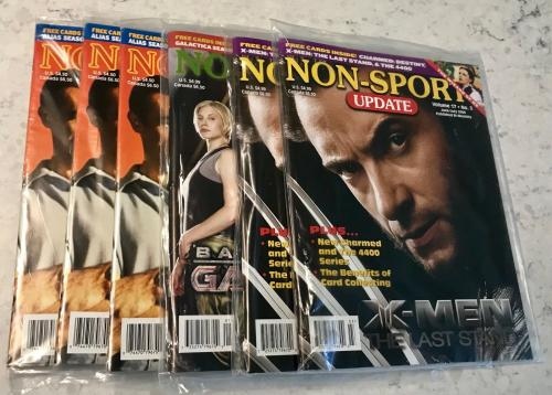 (6) Vintage Brand New Sealed With Promos Non Sport Update Magazines Volume 17