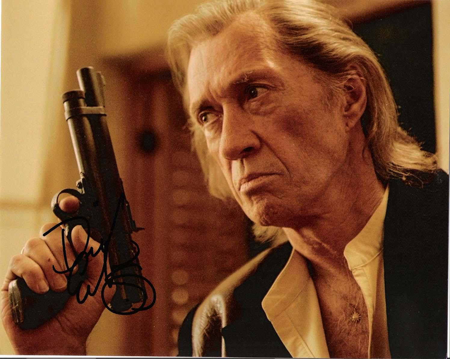 "DAVID CARRADINE as BILL in the Movie ""KILL BILL"" Passed Away 2009 Signed 10x8 Color Photo"