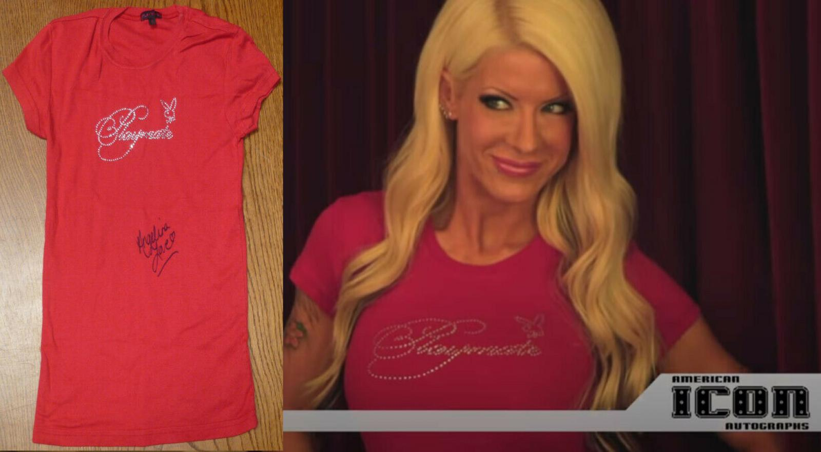 Angelina Love Signed Event Worn Used Playboy Shirt PSA/DNA LOA S TNA Knockouts