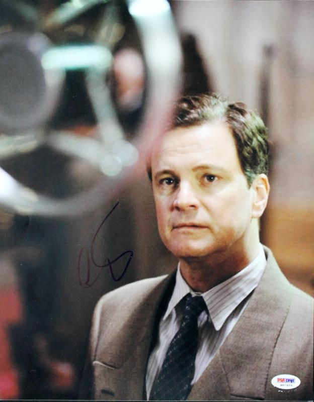 Colin Firth The Kings Speech Signed 11X14 Photo PSA/DNA #M97459