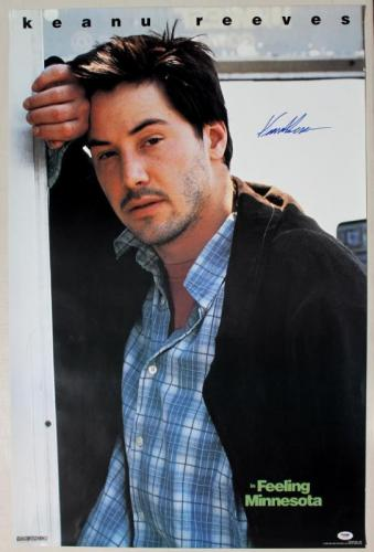 Keanu Reeves Feeling Minnesota Signed 23X35 Poster PSA/DNA #J00352