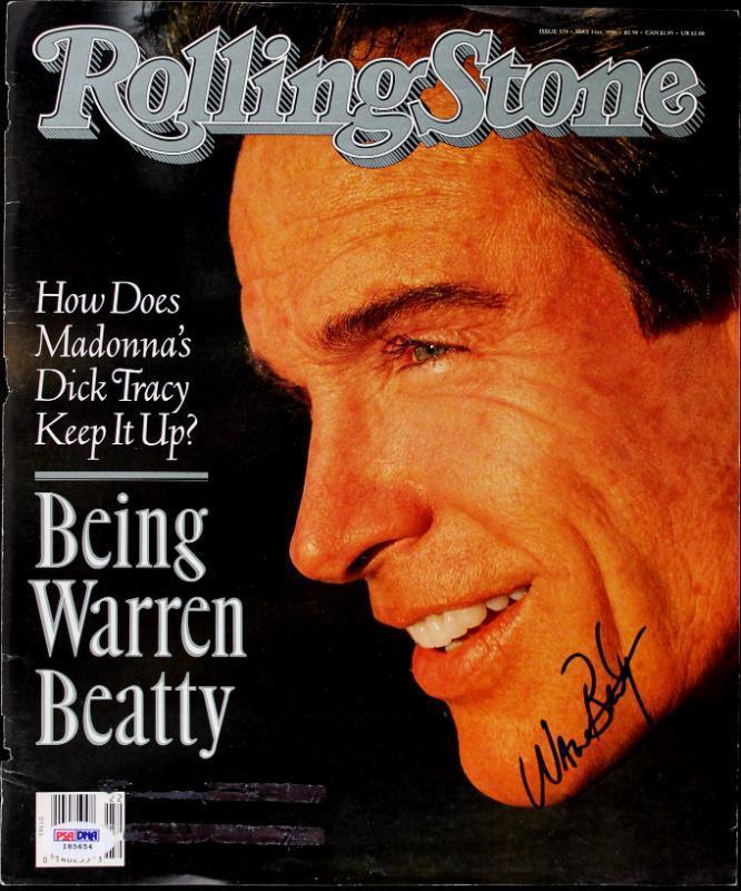 Warren Beatty Signed Rolling Stone Magazine Cover PSA/DNA #I85654