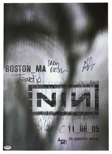 Nine Inch Nails Band Signed 11_08_05 Boston, Ma Tour Poster Psa/dna Loa V07790