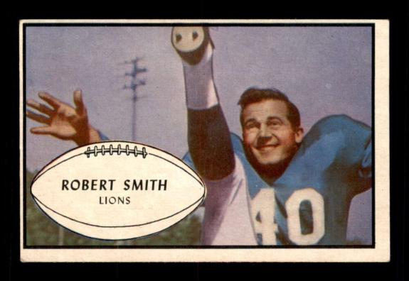 #66 J. Robert Smith SP - 1953 Bowman Football Cards (Common) Graded EX/EX+