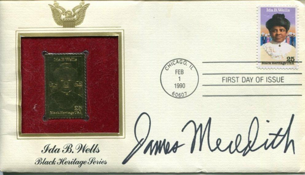 James Meredith Civil Rights Leader 1st Mississippi Student Signed Autograph FDC