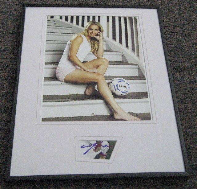 Heather Mitts Autographed Photograph - USA Framed 11x14 Display