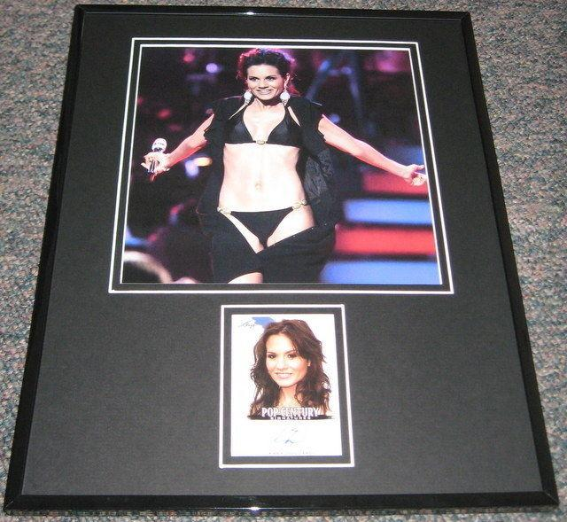 Kara Dioguardi BIKINI Signed Framed 11x14 Photo Display LEAF American Idol