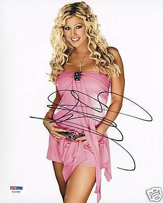 Torrie Wilson Signed WWE 8x10 Photo PSA/DNA COA Picture Autograph Diva Playboy 1