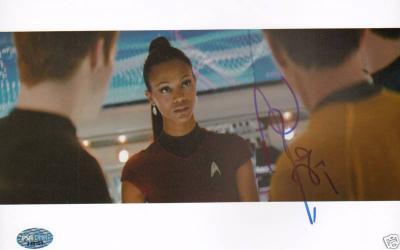 Zoe Saldana Signed Star Trek 8x10 Photo Picture PSA/DNA COA Autograph Auto'd
