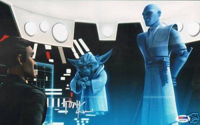 Autographed Tom Kane Photo - Star Wars Yoda 11x14 PSA DNA COA