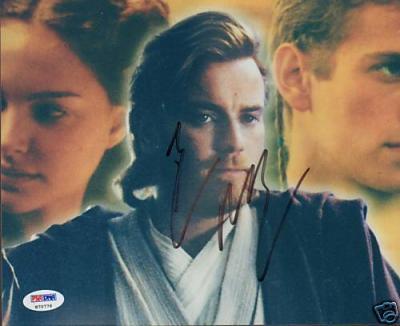 "Ewan McGregor Signed ""Star Wars"" 8x10 Photo PSA/DNA COA"