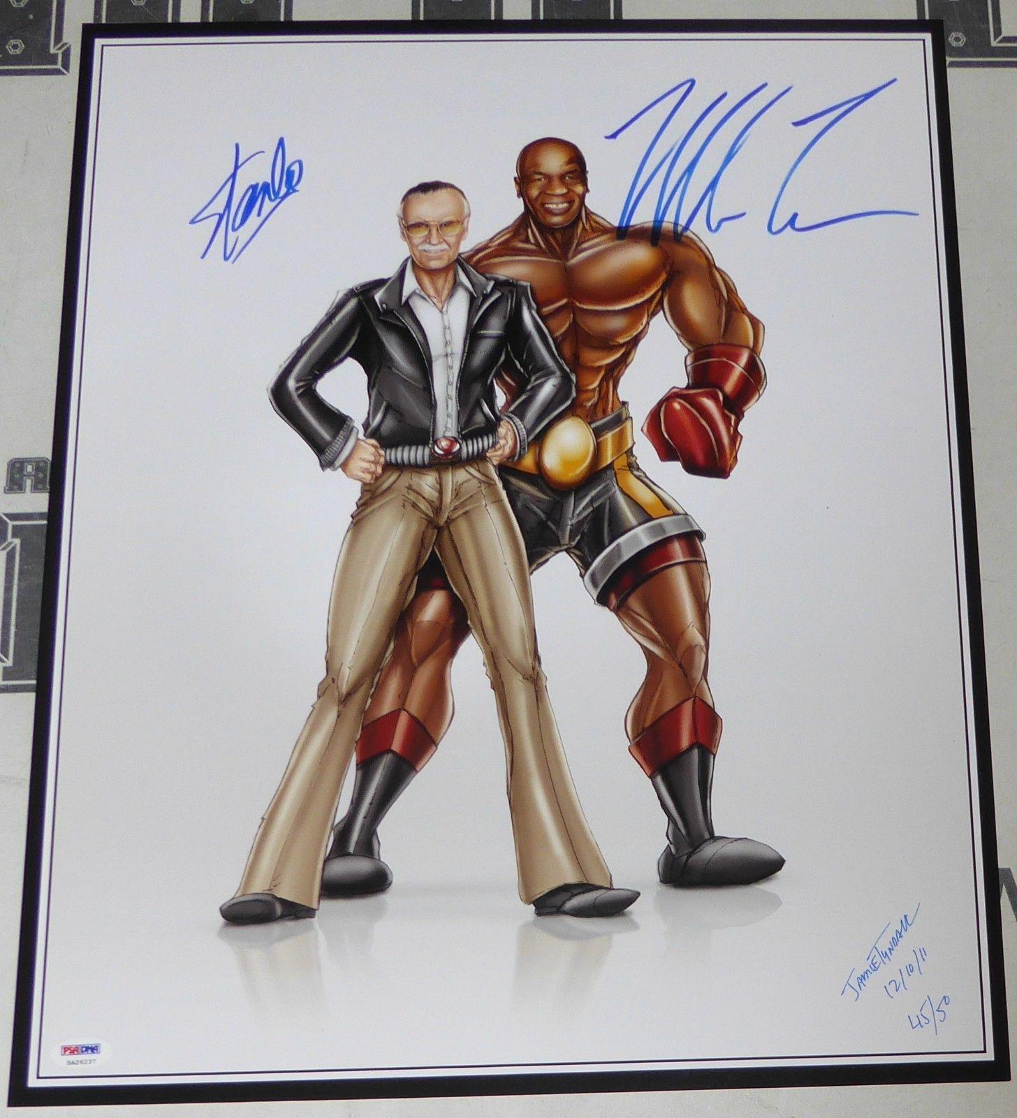 Signed Tyson Photograph - & Stan Lee 16x20 PSA DNA COA Limited Edition 'd #/50