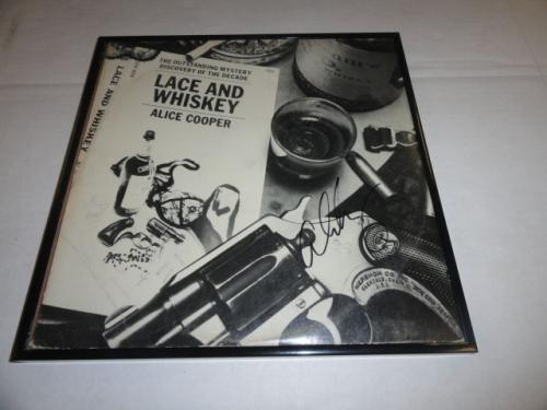 "Alice Cooper Signed Framed ""lace And Whiskey"" Album Autographed Proof"