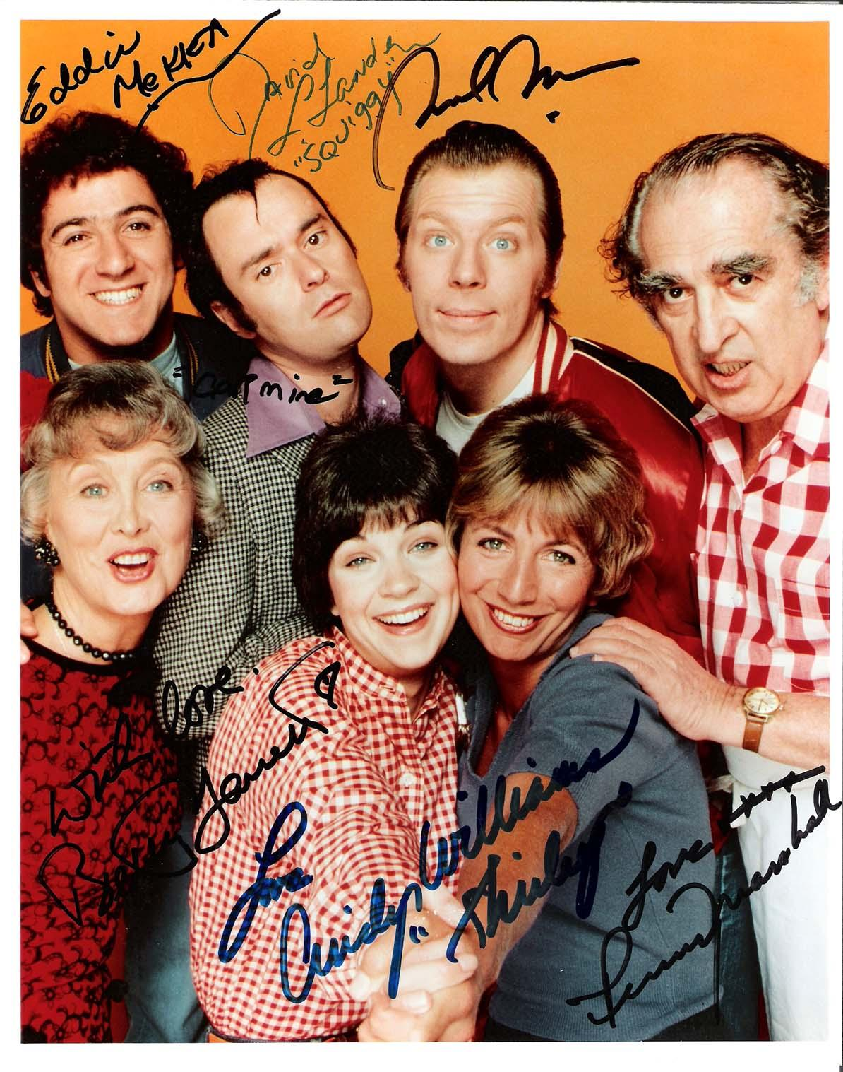 "Michael Williams Autographed Photograph - LAVERNE & SHIRLEY"" by PENNY MARSHALL CINDY MCKEAN DAVID L LANDER EDDIE MEKKA BETTY GARRETT 8x10 Color"