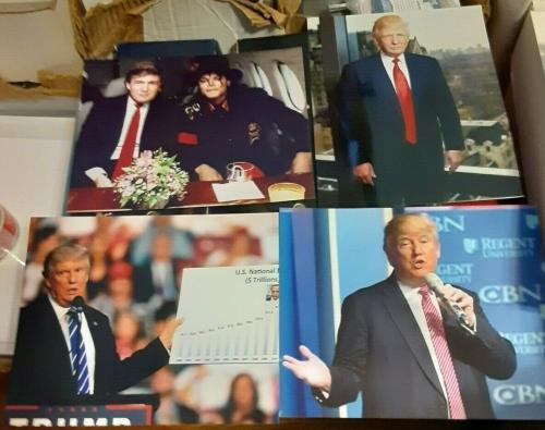 7 Donald Trump President United States 8x10 Photos Time Magazine Michael Jackson