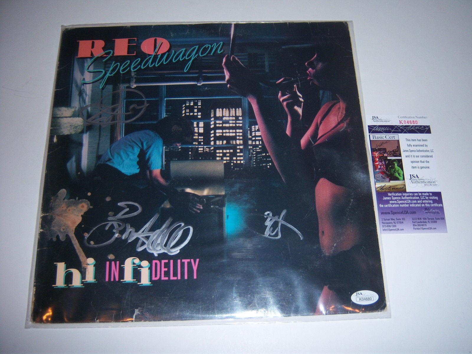 Reo Speedwagon Hi Infidelity 3 Sigs Jsa/coa Signed Lp