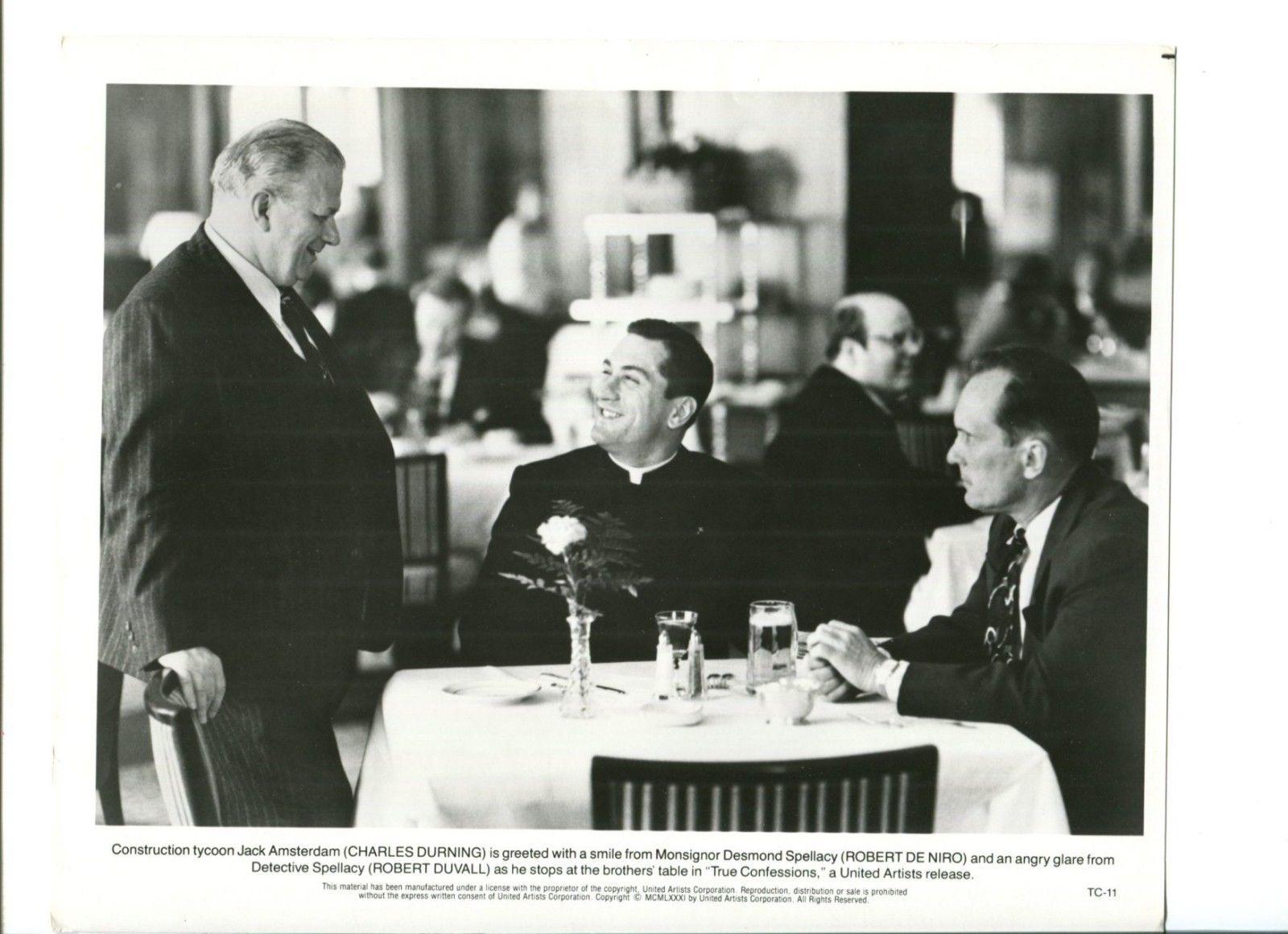 Charles Durning Robert De Niro Robert Duvall True Confessions Press Movie  Photo