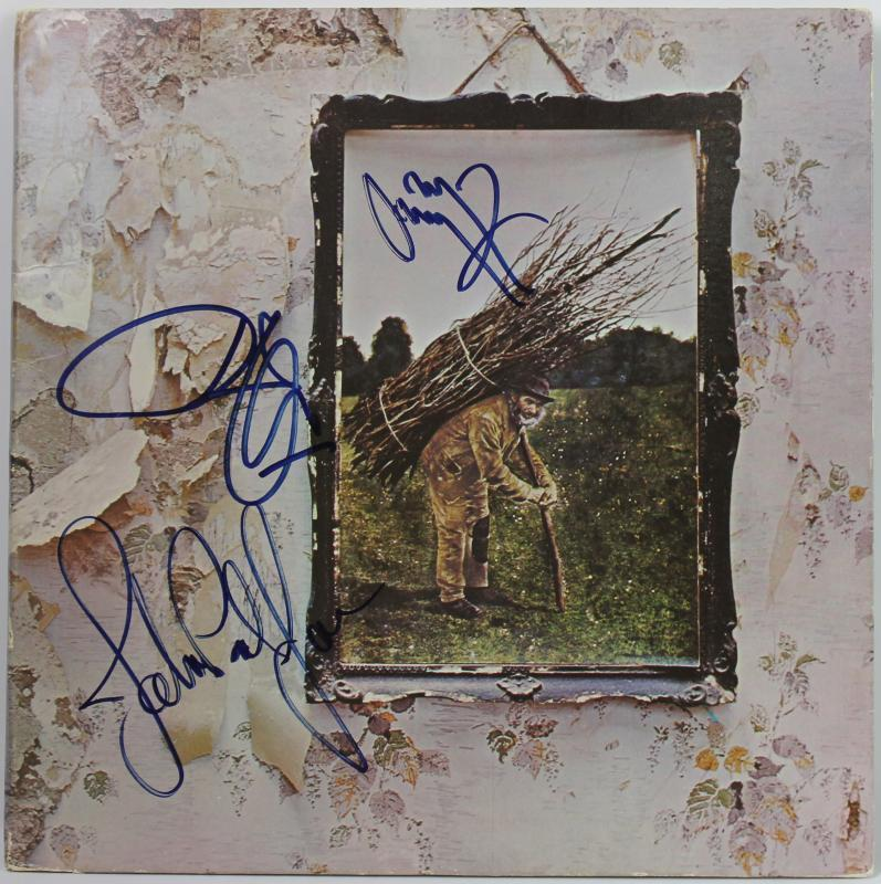 Led Zeppelin (3) Jimmy Page, Robert Plant & J.P. Jones Signed Album PSA #W06180