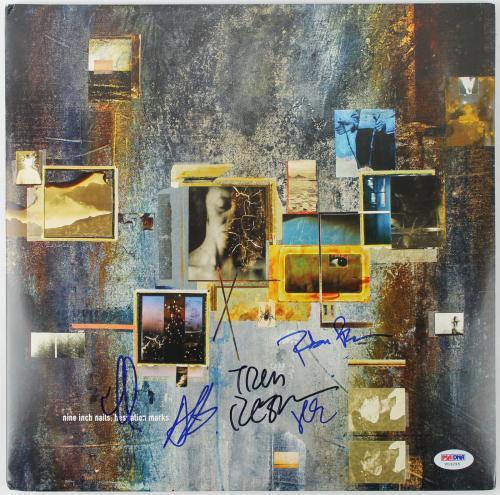 Nine Inch Nails Band Signed Hesitation Marks Vinyl! Trent Reznor Psa/dna V03295