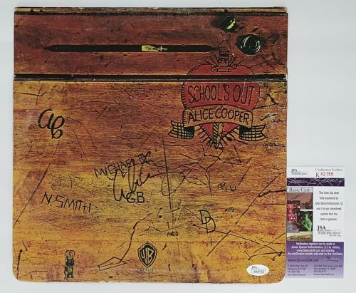 Alice Cooper Signed School's Out Record Album Jsa Coa K42155