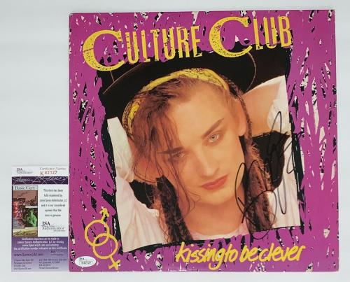 Boy George Culture Club Signed Kissing To Be Clever Record Album Jsa K42127