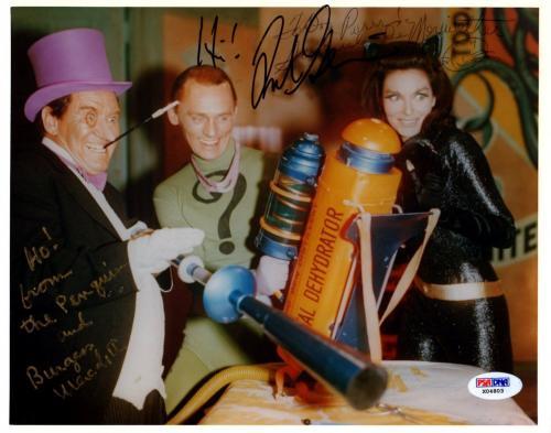Psa/dna Batman Villain Gorshin-meredith-lee Meriwether Signed 8x10 Photo X04803
